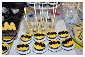 blue batman birthday treats