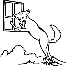 coloring page of wolf wolf peeking at window coloring page download u0026 print online