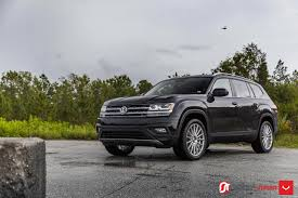 black volkswagen atlas vw atlas looks better with a set of 21 inch vossen wheels