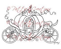 Princess Pumpkin Coach Coloring Pages Digi Stamps
