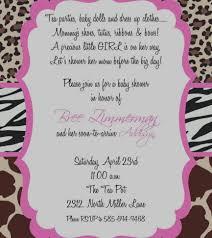 wonderful pink leopard baby shower invitations leopard baby