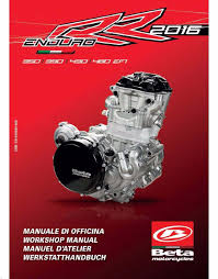 beta engine service workshop manual 2016 enduro rr 430 efi