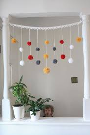 White Curtains With Pom Poms Decorating They Re Also Great For Garlands 34 Adorable Things To Do With