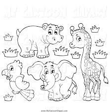 african elephant black and white clipart clipartxtras