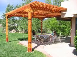 Wood For Pergola by Pergolas Gazebos Ramadas Beveled Square And Spiral Southwestern
