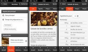 application recettes de cuisine arte lance application mobile de recettes les gourmands 2 0