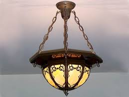 Art Nouveau Chandelier Replating Or Metal Plating 1912 Bungalow