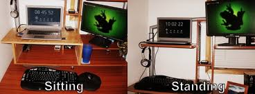 Standing Desk For Gaming Makeshift Computer Desk 5 Things Youre Doing Wrong At Your