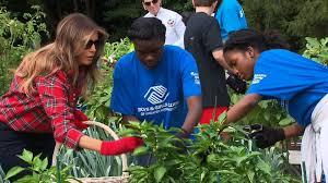 melania trump tends white house garden cnn video