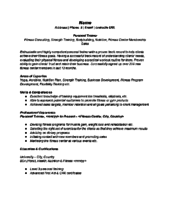 Sample Resume Personal Trainer by Writing A Resume Sample Physical Therapist Resume Sample Examples