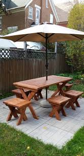 reader showcase chesapeake picnic table and modified bench