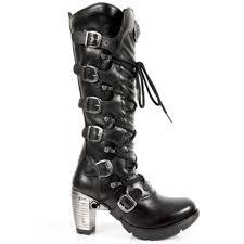 ladies biker boots women ladies new rock long boots m tr004 s1
