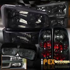 2003 chevy silverado fog lights full smoke combo 2003 2006 chevy silverado 1500 2500 headlights
