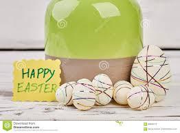 styrofoam easter eggs on wood stock photo image 88859772