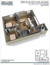 Bachelor Apartment Floor Plan by Village Cite Des Jeunes Gatineau Hull Rentquebecapartments Com