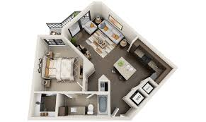 exellent 3d one bedroom apartment floor plans the paul 897 and
