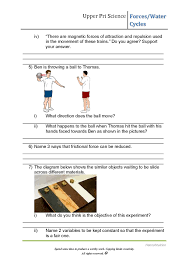 psle science worksheets forces water cycles hannahtuition