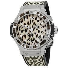 hublot big bang snow leopard automatic chronograph men u0027s watch 341