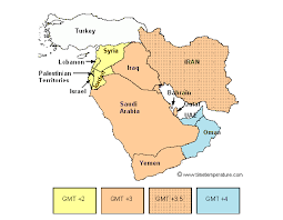 map middle east uk us time zones compared to uk middle east time zone map thempfa org