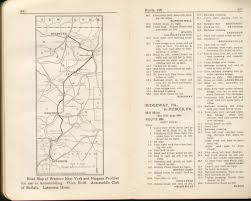 Map Of Michigan And Canada by Pennsylvania In Old Road Atlases 1921 1925