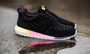 rosh run nike roshe run nm woven rainbow highsnobiety