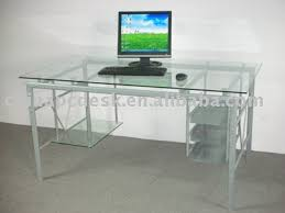 Glass Metal Computer Desk Discount Desk 14708 Workstation Desk