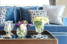 blue and gray sofa pillows blue grey pillows sofa pillow arrangements for a cool look and on