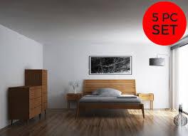 5pc greenington sienna modern bamboo queen bedroom set includes