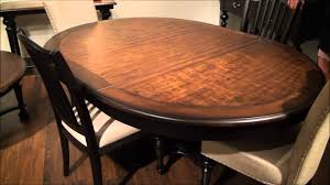 Round To Oval Dining Table Williamsport Round Oval Pedestal Dining Table By Riverside