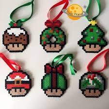 mario perler sprite ornaments by