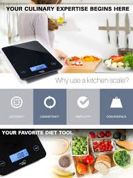 amazon com smart weigh digital glass top kitchen and food scale