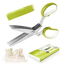 amazon com premium herb scissors set by chefast perfect kitchen