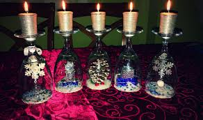christmas wine glass candle craft a magical mommy