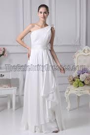 white one shoulder informal wedding dresses thecelebritydresses