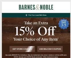 Barnes Noble Online Coupon Barnes U0026 Noble 15 Off Any Item Ends 3 5 U2013 Couponista Queen