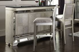Home Bar Set by Farrah Bar U0026 Bar Stool Set In Silver Metallic By Pulaski Furniture