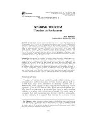 Tourism Resume Performing Tourism Staging Tourism Re Producing Tourist Space