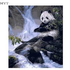 online shop myt panda high quality home decor china painting
