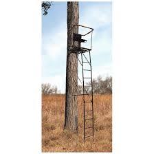 ladder guide gear 16 u0027 swivel ladder tree stand 663255 ladder tree