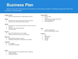sample business plan outline template marketing business plan