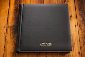 leather wedding photo album cover materials boston wedding photographer zev fisher
