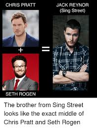Chris Pratt Meme - chris pratt seth rogen jack reynor sing street the brother from sing