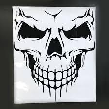 white jeep hood 50 57cm black white skull head decal machine cover hood sticker