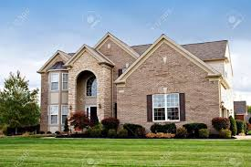 a house in a suburban neighborhood of cleveland ohio stock photo