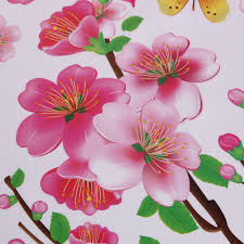 aliexpress com buy peach blossom romantic flower wall sticker aliexpress com buy peach blossom romantic flower wall sticker removable pvc wall stickers for home bedroom wallpaper wall backgroundart decoration from