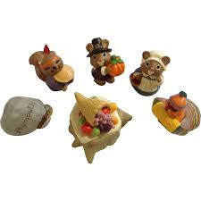 hallmark merry miniatures thanksgiving of figurines plymouth