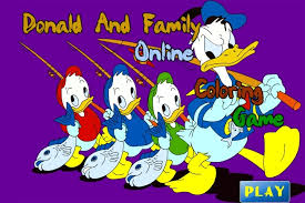 donald duck family coloring game game coloring games games