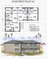 emejing 4 plex apartment plans contemporary home decorating