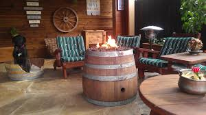 Wine Barrel Fire Pit Table by Reclaimed Wine Barrel Fire Pit