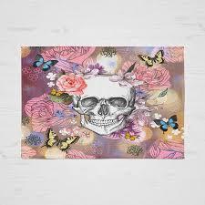 Skull Area Rug Sugar Skull Throw Rug Area Rugs Woven Rug Binkys Garden Floral
